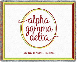 Alpha Gamma Delta Blanket Throw