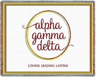 Alpha Gamma Delta Blanket Throw