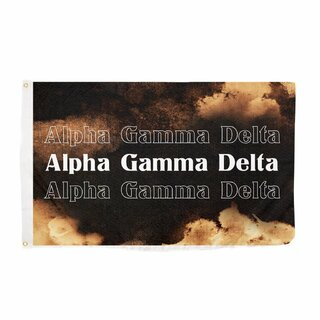 Alpha Gamma Delta Bleach Wash Flag