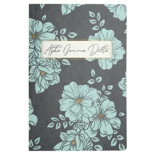 Alpha Gamma Delta Blue Floral Notebooks