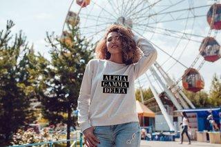 Alpha Gamma Delta Bodoni Crewneck Sweatshirt
