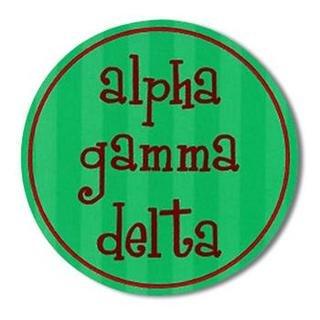 "Alpha Gamma Delta Bumper Stickers 4"" Round"