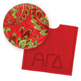 Alpha Gamma Delta Button Mirror