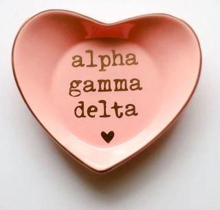 Alpha Gamma Delta Ceramic Ring Dish