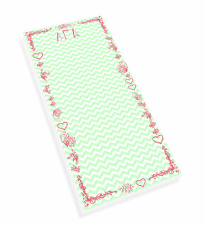 Alpha Gamma Delta Chevron Long Notepad
