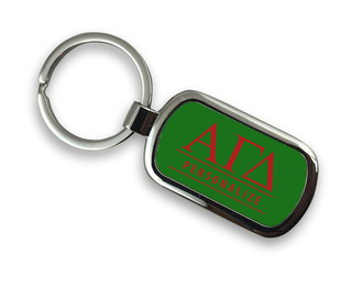 Alpha Gamma Delta Chrome Custom Keychain
