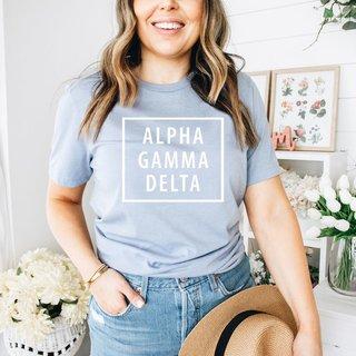Alpha Gamma Delta Comfort Colors Box Tee