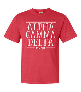 Alpha Gamma Delta Comfort Colors Custom Heavyweight T-Shirt
