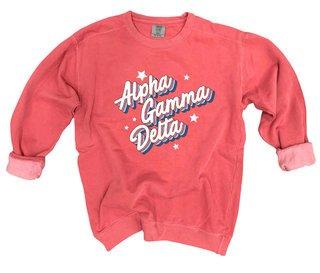 Alpha Gamma Delta Comfort Colors Flashback Crew
