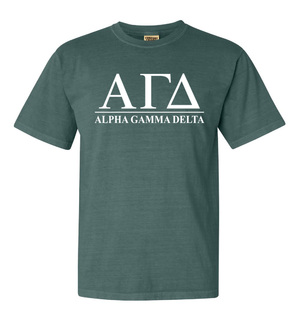 Alpha Gamma Delta Comfort Colors Heavyweight T-Shirt