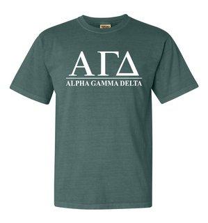 Alpha Gamma Delta Comfort Colors Heavyweight T-Shirt