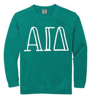 Alpha Gamma Delta Comfort Colors Greek Crewneck Sweatshirt