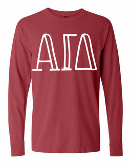 Alpha Gamma Delta Comfort Colors Greek Long Sleeve T-Shirt