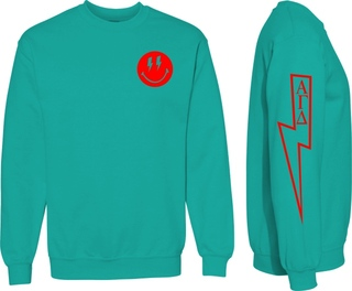 Alpha Gamma Delta Comfort Colors Lightning Crew Sweatshirt