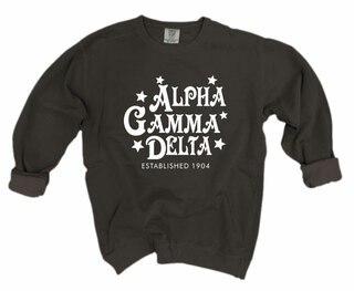Alpha Gamma Delta Comfort Colors Old School Custom Crew