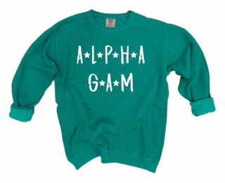 Alpha Gamma Delta Comfort Colors Starry Night Crew
