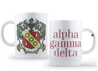 Alpha Gamma Delta Crest - Shield Coffee Mug
