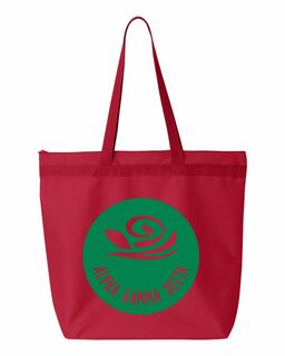 Alpha Gamma Delta Circle Mascot Tote bag