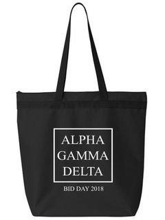 Alpha Gamma Delta Box Tote bag