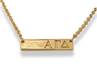 Alpha Gamma Delta Cross Bar Necklace