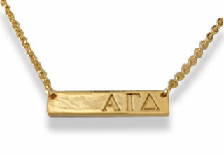 Alpha Gamma Delta Cross Bar Necklace