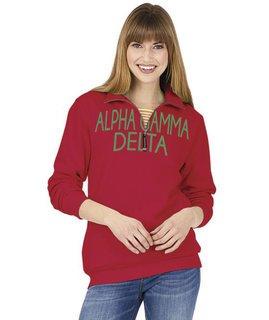Alpha Gamma Delta Crosswind Over Zipper Quarter Zipper Sweatshirt