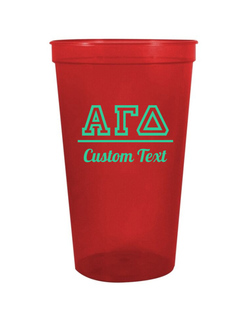 Alpha Gamma Delta Custom Greek Collegiate Stadium Cup