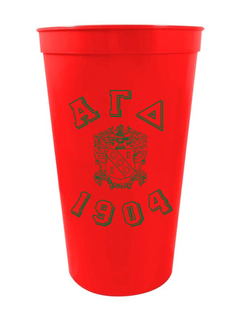Alpha Gamma Delta Custom Greek Crest Est Stadium Cup