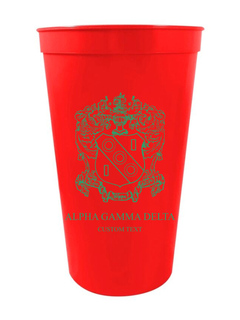 Alpha Gamma Delta Custom Greek Crest Letter Stadium Cup