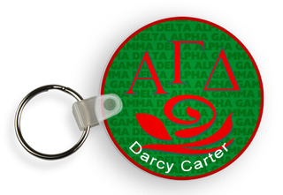 Alpha Gamma Delta Custom Mascot Keychains
