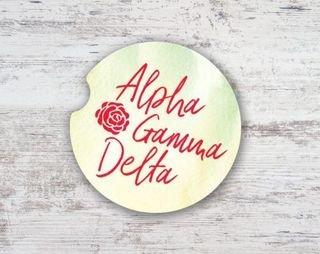 Alpha Gamma Delta Sandstone Car Cup Holder Coaster