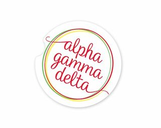 Alpha Gamma Delta Logo Sandstone Car Cup Holder Coaster
