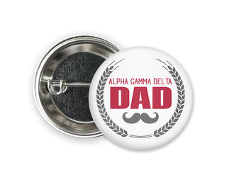 Alpha Gamma Delta Dadstache Button