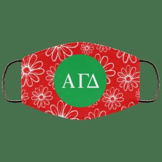 Alpha Gamma Delta Daisies Face Mask
