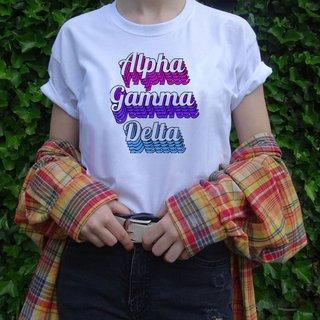 Alpha Gamma Delta Echo Tee - Comfort Colors