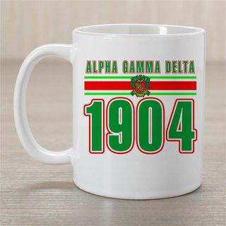 Alpha Gamma Delta Established Year Coffee Mug - Personalized!