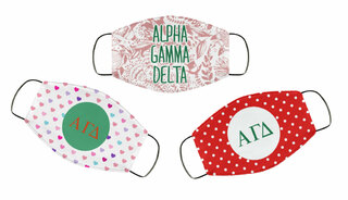 Alpha Gamma Delta Face Mask Trio Set