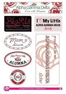 Alpha Gamma Delta Family Sticker Sheet
