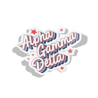 Alpha Gamma Delta Flashback Decal Sticker
