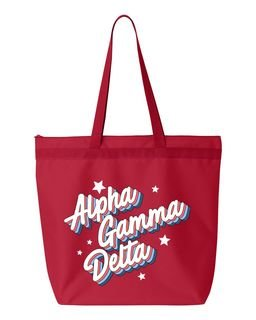 Alpha Gamma Delta Flashback Tote bag