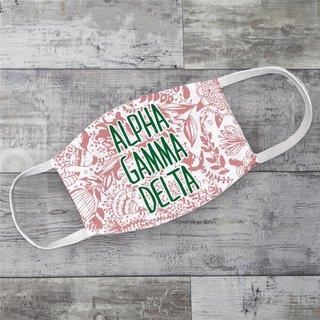 Alpha Gamma Delta Floral Face Mask