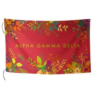 Alpha Gamma Delta Floral Flag
