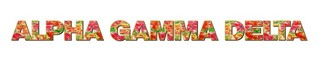 "Alpha Gamma Delta Floral Long Window Sticker - 15"" long"