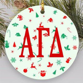 Alpha Gamma Delta Holiday Cheer Ornaments