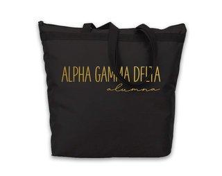 Alpha Gamma Delta Gold Foil Alumna Tote