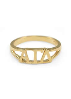 Alpha Gamma Delta Gold Plated Letter Ring