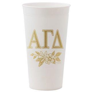 Alpha Gamma Delta Gold Printed Tumbler