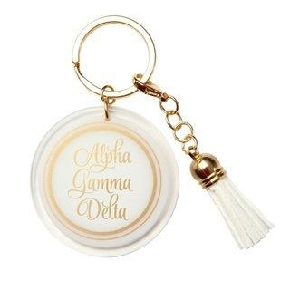 Alpha Gamma Delta Tassel Key Chain