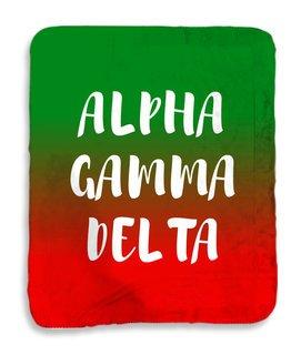 Alpha Gamma Delta Gradient Sherpa Lap Blanket
