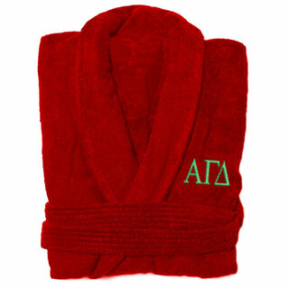 Alpha Gamma Delta Greek Letter Bathrobe